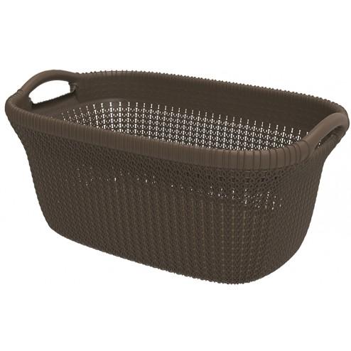 Cesta Curver Knit basket chocolate