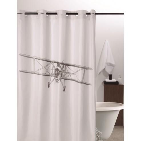 Cortina de ducha poliester avioneta