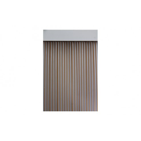 Cortina de puerta cinta 90x210 duero-miel/transparente
