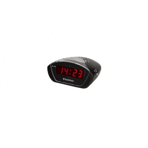 Radio reloj despertador  negro - display rojo