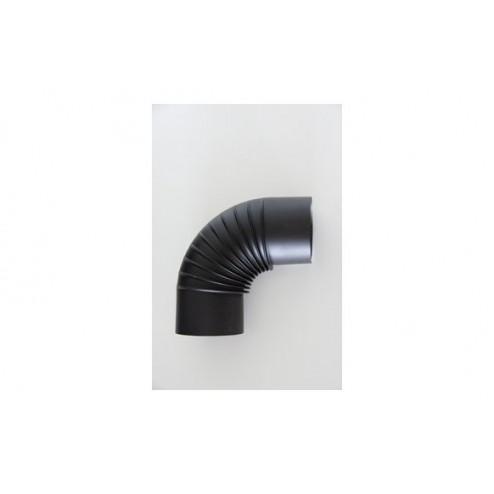 Codo vitrificado negro mate chimenea t600 200cm 90º