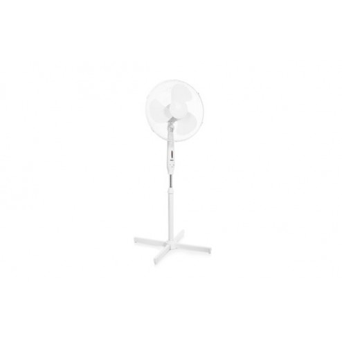 Ventilador pie con mando distancia 40w 50cm blanco