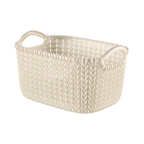 Cesta rectangular Knit XS 3L Blanco Oasis