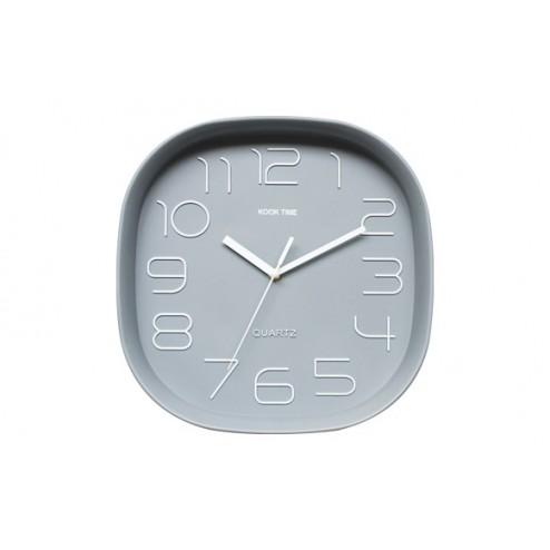 Reloj cuadrado retro  gris
