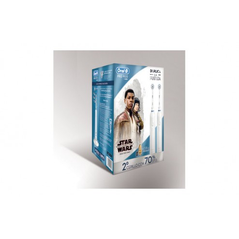 Cepillo dental(pack 2u)oral-b pro900+usb star wars