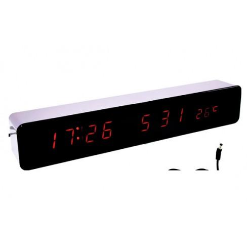 Reloj despertador led 30x5x4