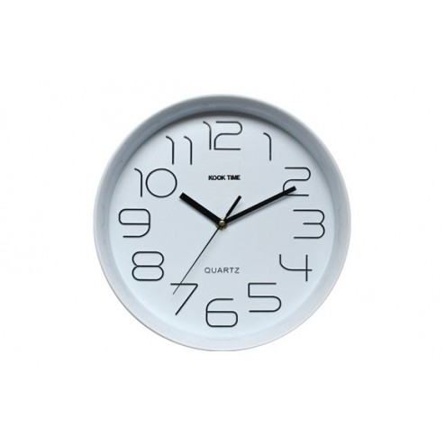 Reloj Pared Retro Redondo Blanco