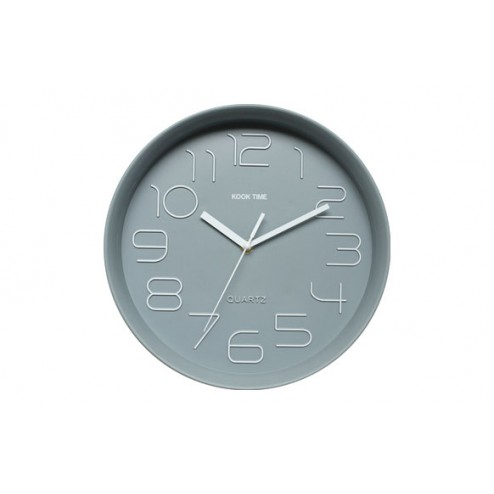 Reloj Pared Retro Redondo Gris