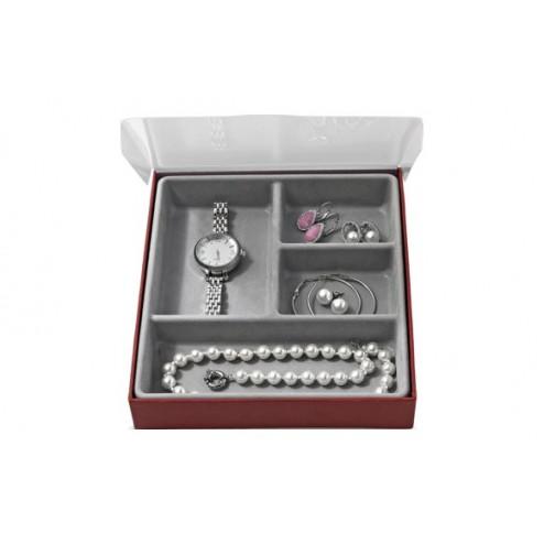Organizador de joyas con compartimentos grandes 18,5x21,5x3,5cm