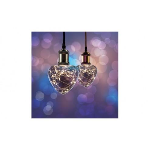 Lampara Led Starry Corazon E27 1,5W Calida