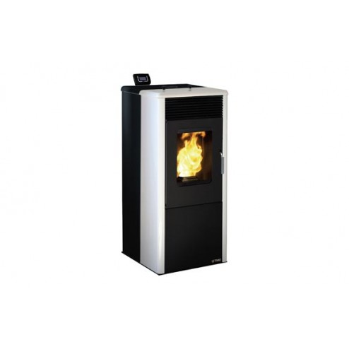 Estufa pellet 10kw TMC900 Elegance Wifi negro/blanco