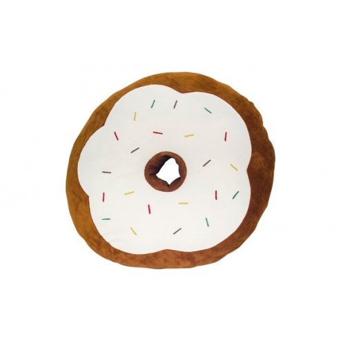 Cojín peluche Yummy Donut Marrón