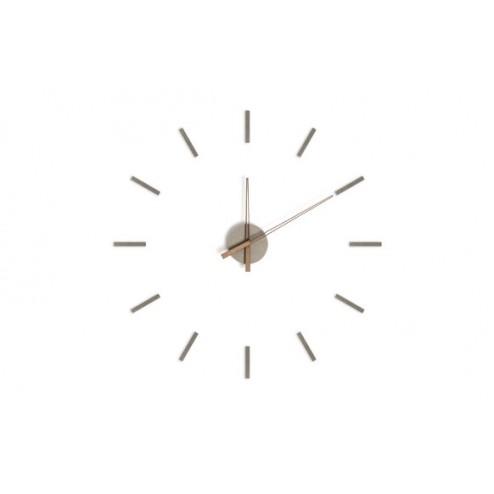Reloj de pared adhesivo Balvi Stick Tack Gris