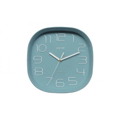 Reloj de pared Kook Time Retro Cuadrado Verde
