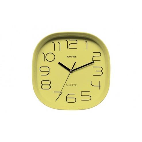 Reloj de pared Kook Time Retro Cuadrado Lima