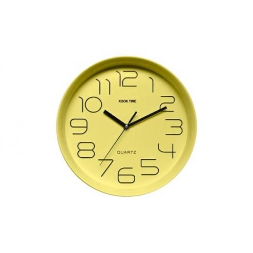 Reloj de pared Kook Time Retro Redondo Lima