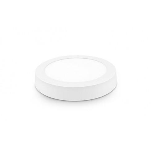 Downlight Led Superficie Redondo Blanco 23 cm 18 W 1800 Lm Fria