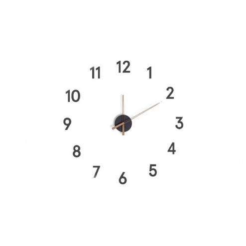 Reloj de pared adhesivo Balvi Momentum Negro