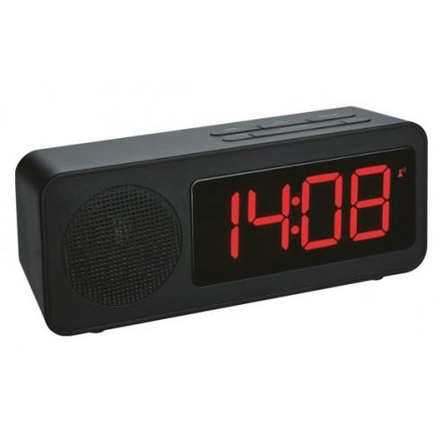 Reloj despertador con radio Negro 60.2546.01