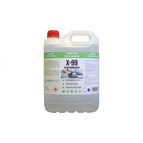 Limpiador Hidroalcohólico QF X-99 Clear Higienizante 5L