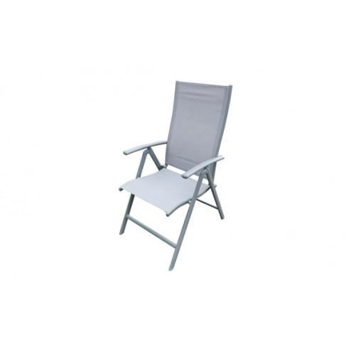 Sillón Posicion Aluminio Textilene Gris Qfplus Silver