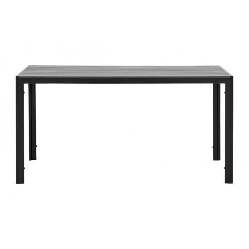 Mesa Aluminio Polywood Negra y Gris 629018