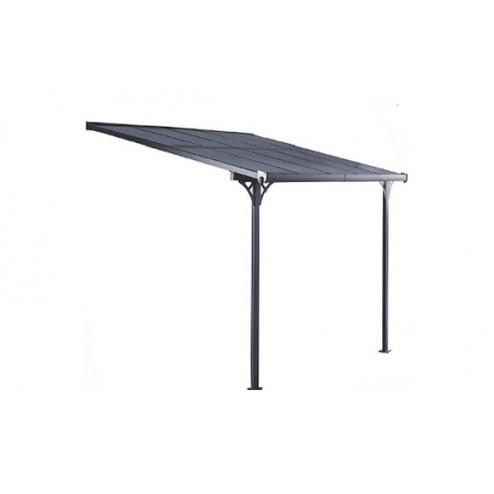 Marquesina Aluminio PoliCarbónato Antracita KIS13011