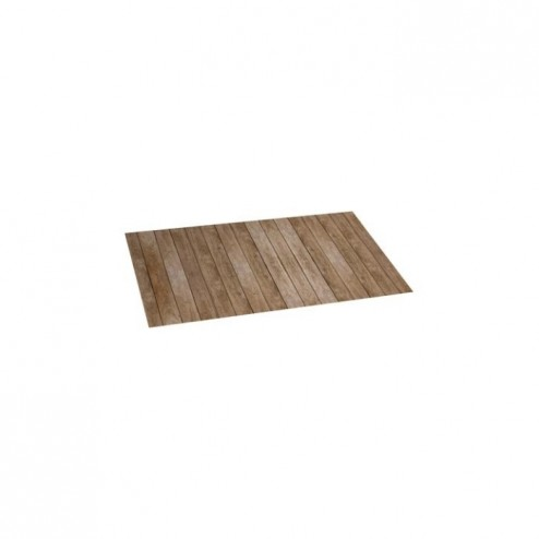 Alfombra vinílica Croma 50x110cm Wood Gris