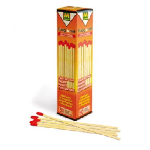 Cerillas largas Fuego Net 20cm para estufas y barbacoas