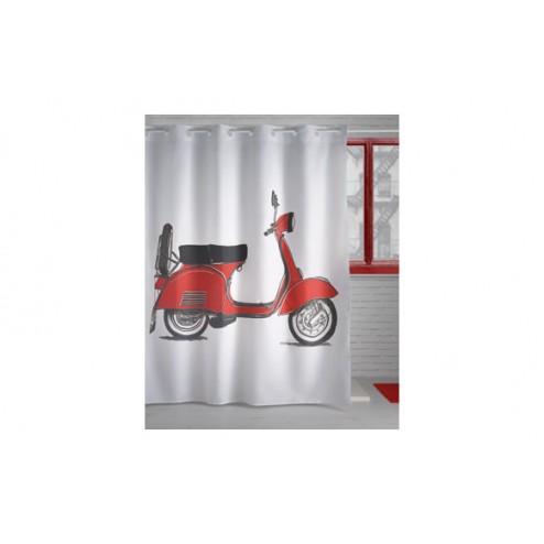 Cortina de ducha 180x200 241 Moto roja
