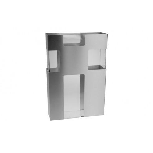 Florero vidrio aluminio mate 20 X 30 Andrea house