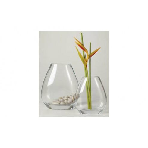 Jarron oval vidrio 26cm Decoart