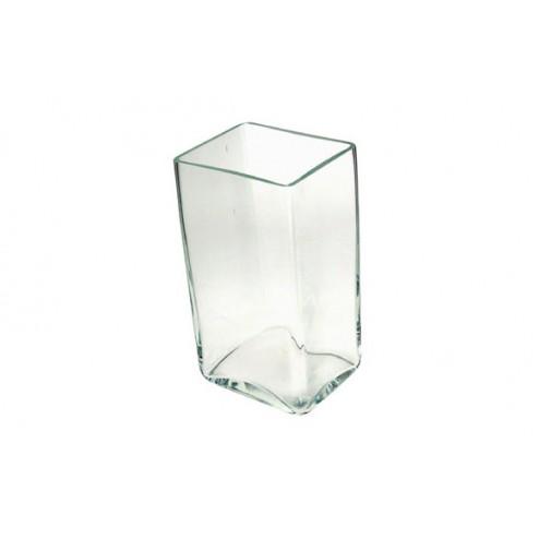 Jarron rectangular vidrio 17-657Ay22CM Decoart