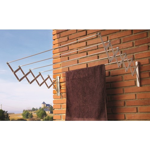 Tendedero de pared extensible blanco 100