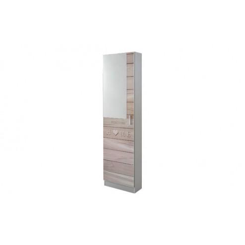 Zapatero 1 puerta con espejo 180X50X20 CM Closet norte