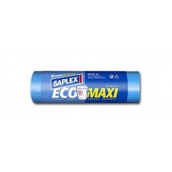 Bolsa Basura Cierra Facil 50 L (10 Uds) Saplex 70X75 cm Eco Maxi