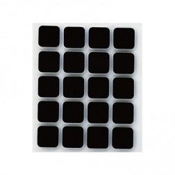 Antideslizante adhesivo Inofix negro Ø 17x17mm.