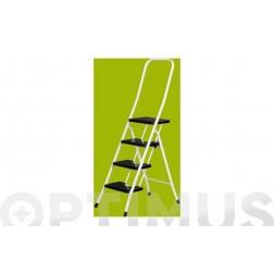 Escalera Acero Blanca C/Barandilla 5 P Negros