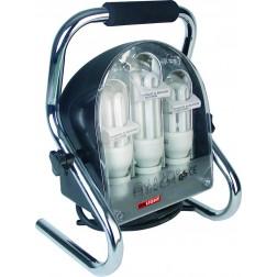 Foco de luz fría con soporte y 3 lámparas