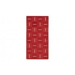 Alfombra Antideslizante Chess Rojo-55x55