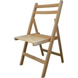 Silla de madera plegable barnizada