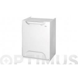 Contenedor de reciclaje apilable blanco