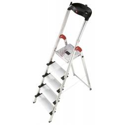 Escalera de aluminio Hailo  L80 ComfortLine 5 peldaños