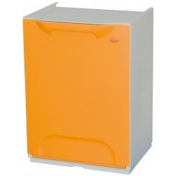 Contenedor de reciclaje apilable naranja