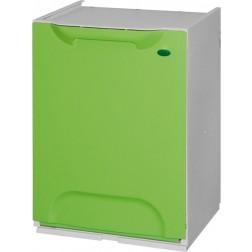 Contenedor de reciclaje apilable verde