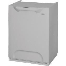 Contenedor de reciclaje apilable gris