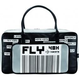 Bolsa de viaje Epic Fly Away gris y negro