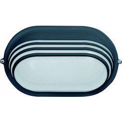 Aplique Oval 60W Ip54 Simon Brico Negro