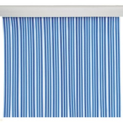 Cortina de cintas azul