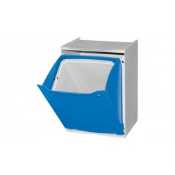 Contenedor de reciclaje apilable azul